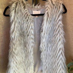 Faux Gray Fur Vest